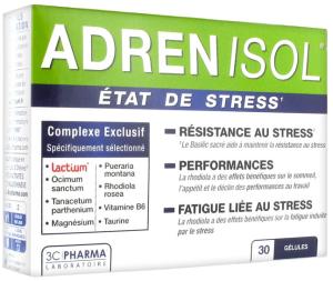 3c pharma adrenisol 30 comprimés