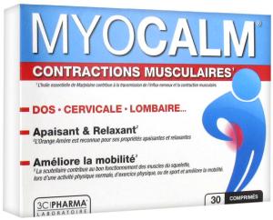 3c pharma myocalm contractions musculaires 30 comprimés