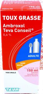 Ambroxol teva conseil 0,6%, solution buvable