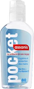 Assanis gel antibactérien sans rinçage