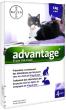 Bayer advantage 80 : 4 pipettes antipuce pour chat et lapin de 4kg et +